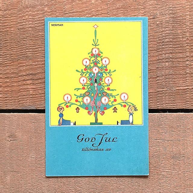 クリスマスカード「Einar Nerman(エイナル・ネールマン)」《210218-01》