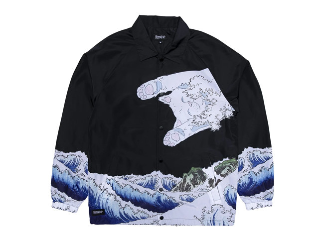 RIPNDIP|The Greatest Wave Coaches Jacket (Black)