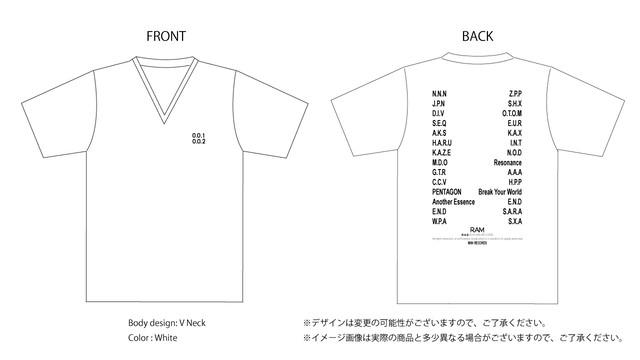 「0.0.1&0.0.2オフィシャルT-shirt」 予約販売作品 8/6まで受付のみ