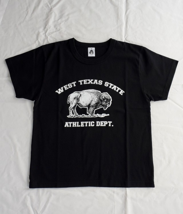 TACOMA FUJI RECORDS  WEST TEXAS STATE ATHLETIC DEPT.  designed by MATT LEINES BLACK
