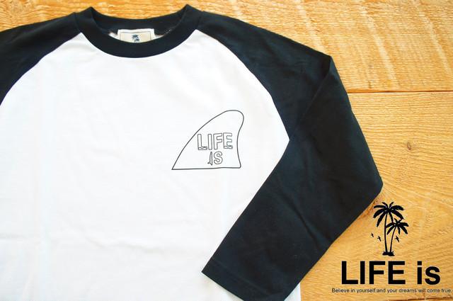 LIFE isフィン ラグラン7分袖Tシャツ ¥3200+tax