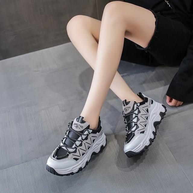 wavy rugged dad sneakerPD2179