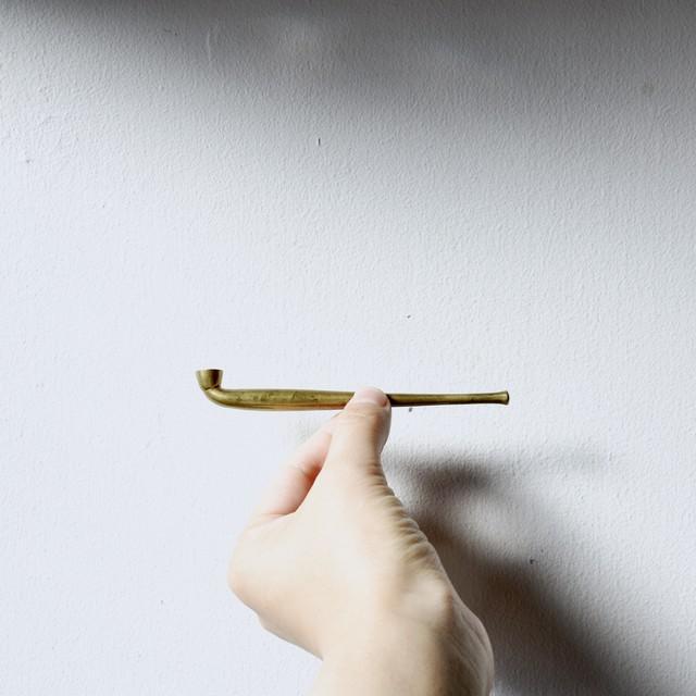 【真鍮豆延煙管】柘製作所