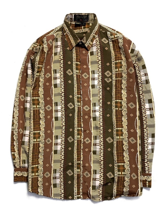 FULL PATTERN FLY FRONT L/S SHIRT