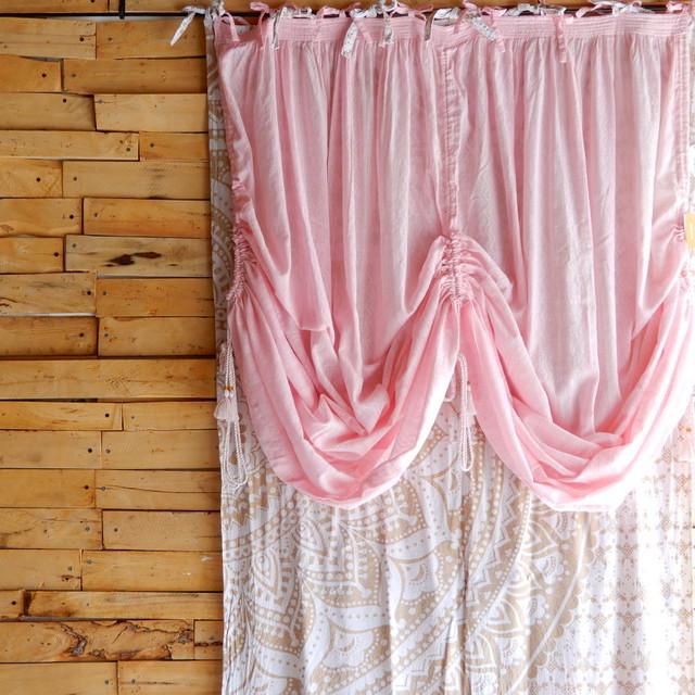 バルーンカーテン ピンク