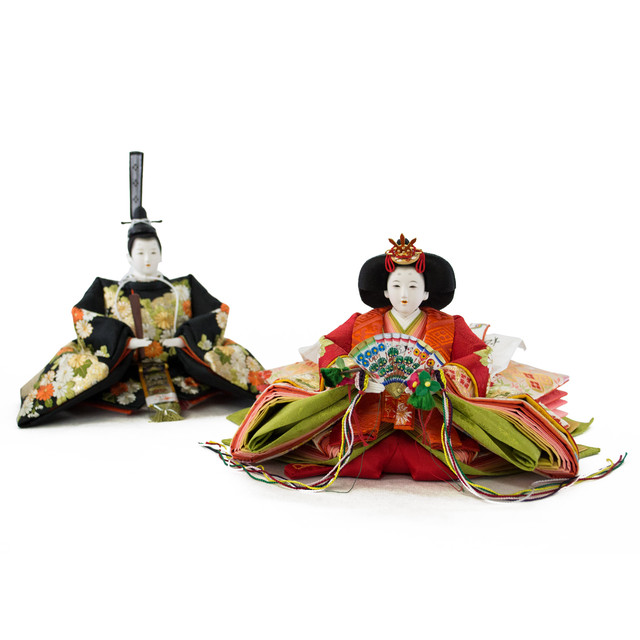 人形作家「松寿」作 菊紋様刺繍 人形単品販売