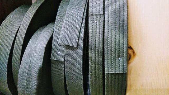 アクリルテープ 平コール織 38㎜幅 黒/カラー 1m単位