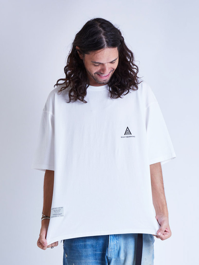 EGO TRIPPING (エゴトリッピング) POETRY TEE ポエトリーTシャツ / WHITE 663812-00