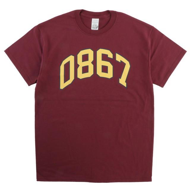 0867 / T-Shirt / Arch / Logo / Burgundy
