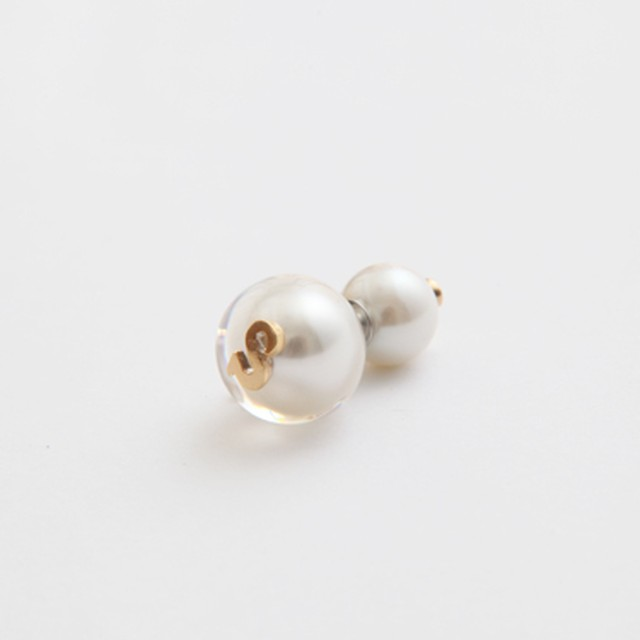 MAYU/PEARL RIVETS White Pearl Initial,10mm Catch S