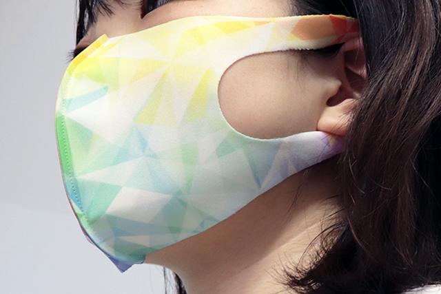 菊&ダリア 家紋装飾 和柄ファッションマスク Lサイズ