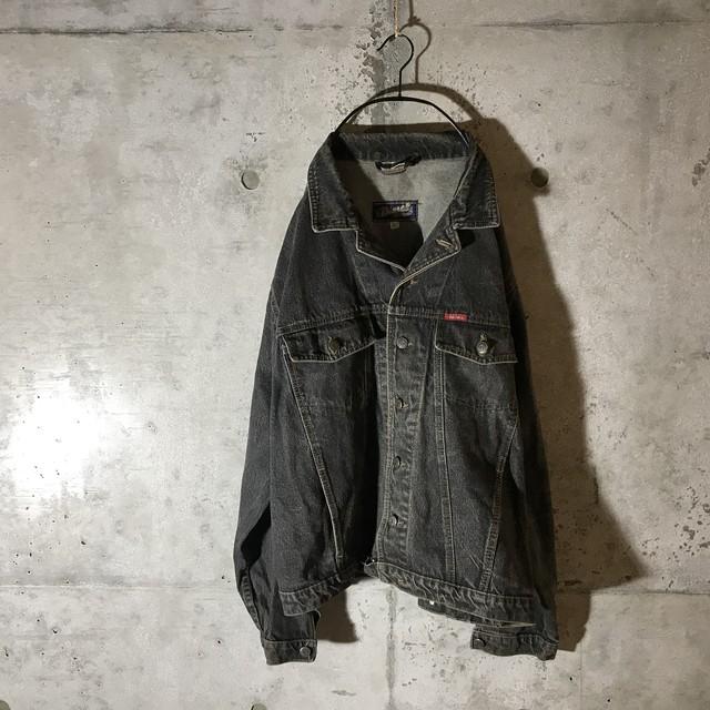 [DIESEL]thin black denim jacket