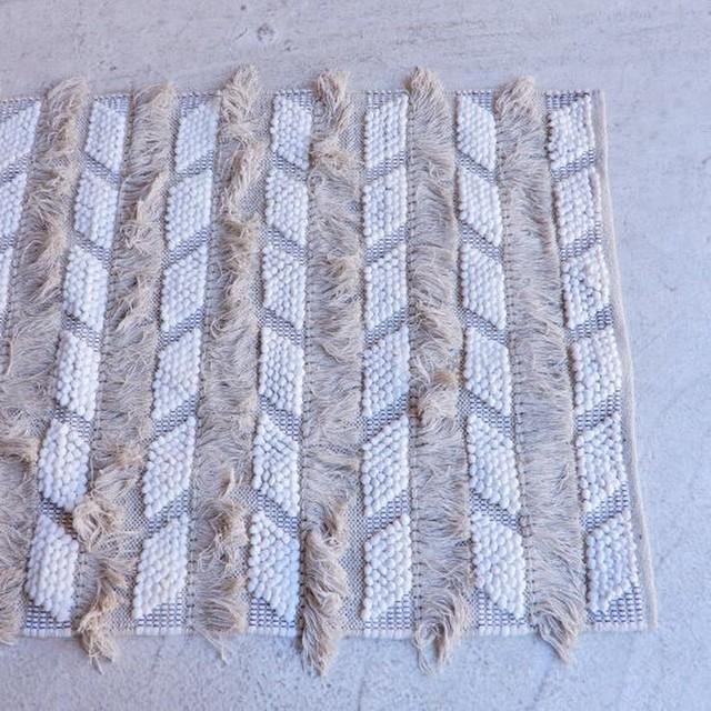 TOPANGA Homefurnishing  手織りのコットンフロアマット ケミセット 80×150cm