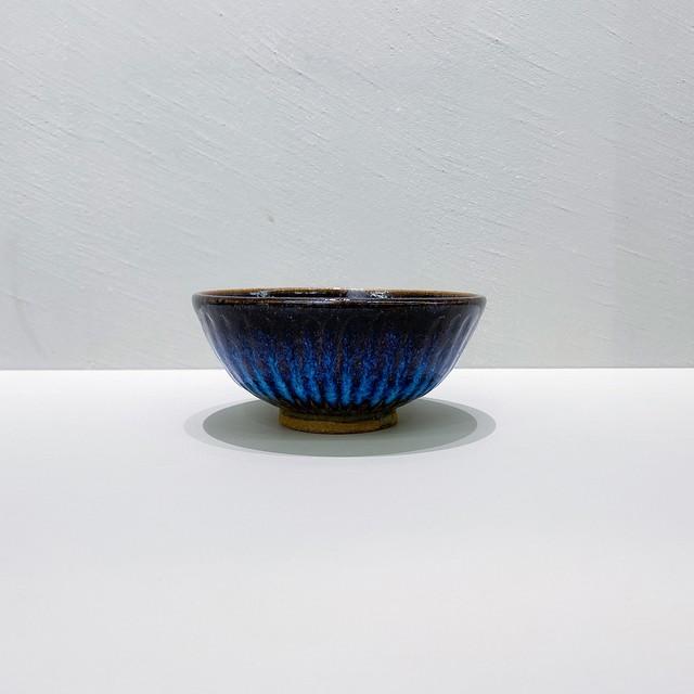 三輪田窯 鎬手飯碗|青