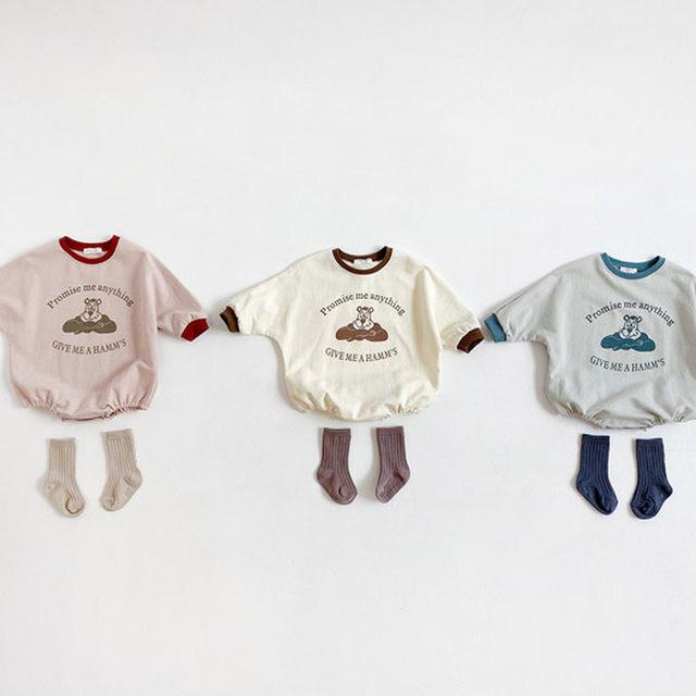 【お取り寄せ】66-90 くまロンパース 赤ちゃん ベビー ロンパース