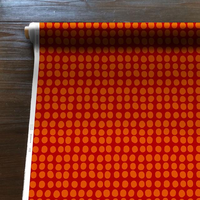 Connecting the dots(朱色)[50cm×150cm]cotton100%
