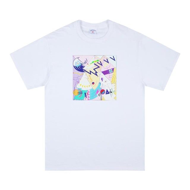 Abstract Tee(White)