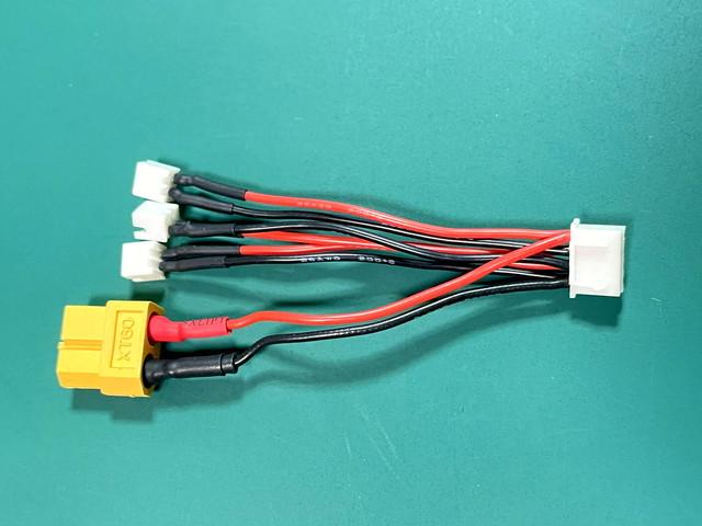 A.001  1セルリポバッテリーコネクター Molex51005(オス) 2本セット