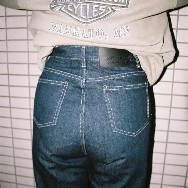 【Crudely Hommes】Kate's Wide Stitch Denim