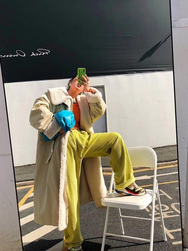 マイルドネックファーぺディン ぺディン ジャンパー コート アウター  韓国ファッション