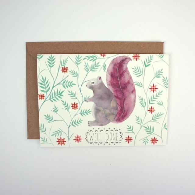 Greeting Card - Squirrel Well Done