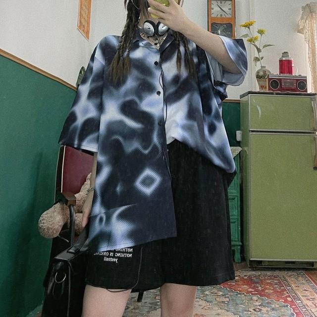 スモークマーブルYシャツ(全3色) / HWG449