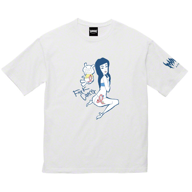 【Cotton100%】Fxxk Cancer 2 Tee (White)