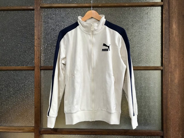 PUMA T7 SUEDE TRACK JACKET (BIRCH/NAVY)