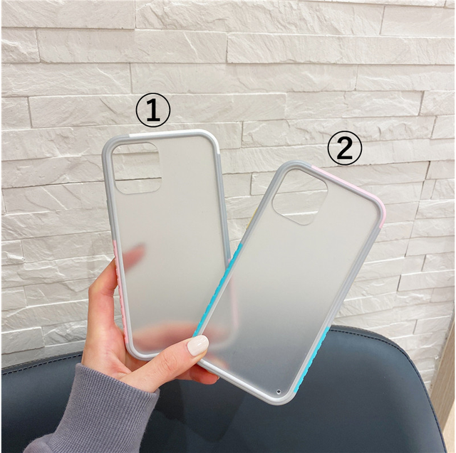 Side color clear iphone case