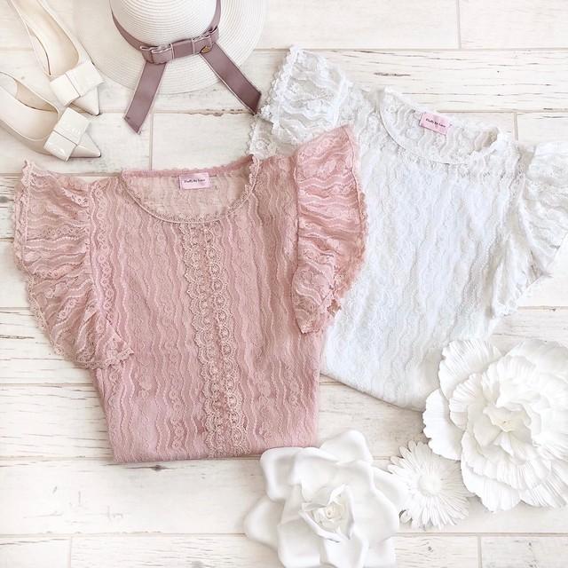 【Fluffy】レースTシャツ