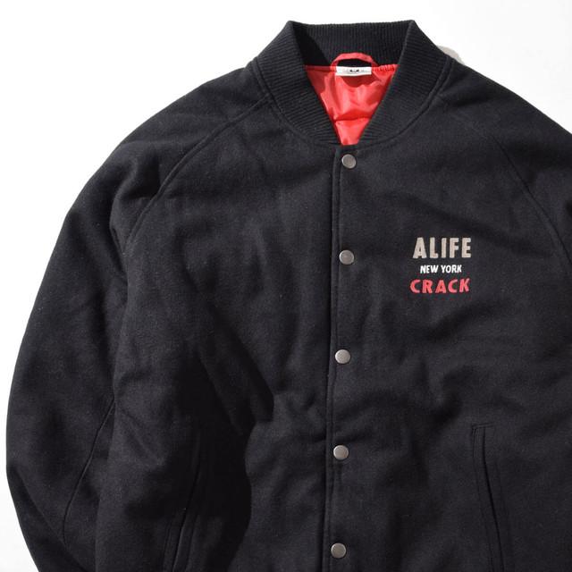【XLサイズ】ALIFE エーライフ MELTON JKT メルトンジャケット BLK ブラック XL 400610191209