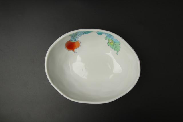 赤かぶ楕円小鉢 九谷焼