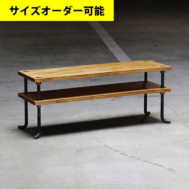 IRON BAR LOW SHELF 100CM[AMBER COLOR]サイズオーダー可