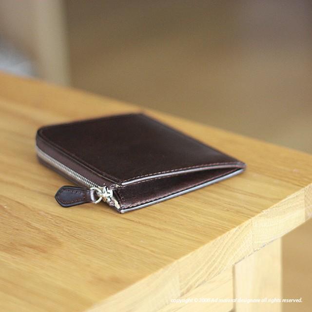 """L型財布 """"Leatus"""" ・ブラウン×クリームイエロー"""