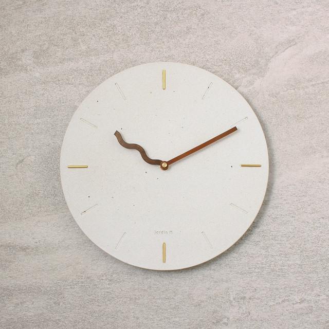 【ROAD】陶器掛け時計 / 真鍮 銅オリジナル針 : JM19CL002