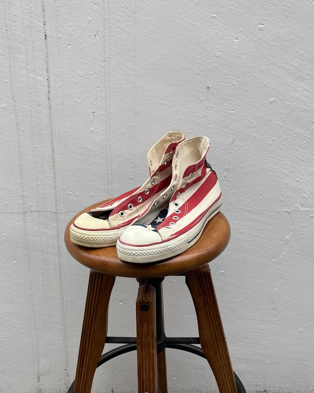 (AC078)90's Converse All Star 星条旗 made in USA