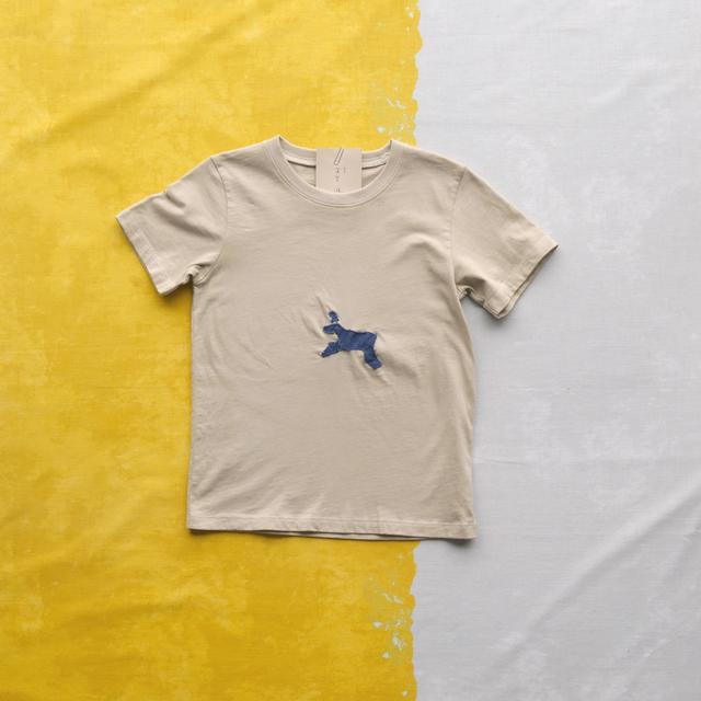 TshirtsComplex 野良工房 薺「蓬染め 道草Tシャツ」