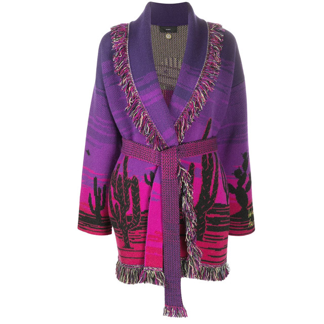 ALANUI WHO'S OUT THERE? CARDIGAN SPACE VIOLET