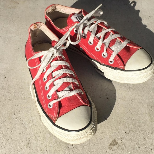 "USED ""  USA製  CONVERSE  ALL STAR red OX """