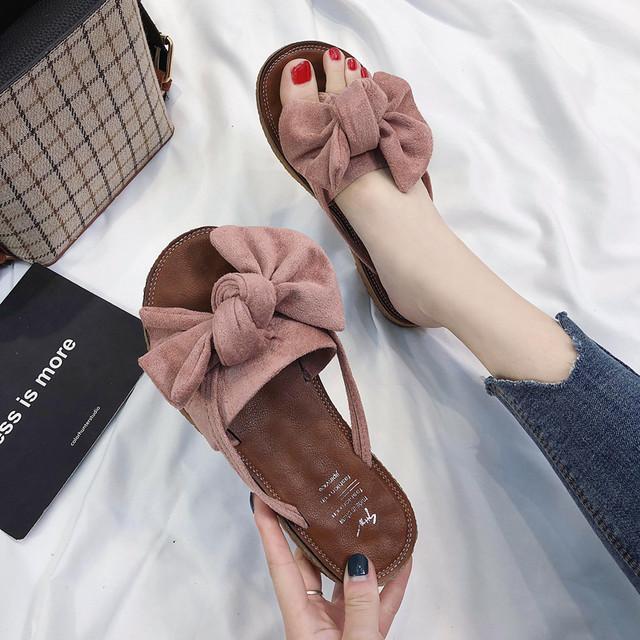 【shoes】大活躍キュートカジュアルリボン付き春夏サンダル