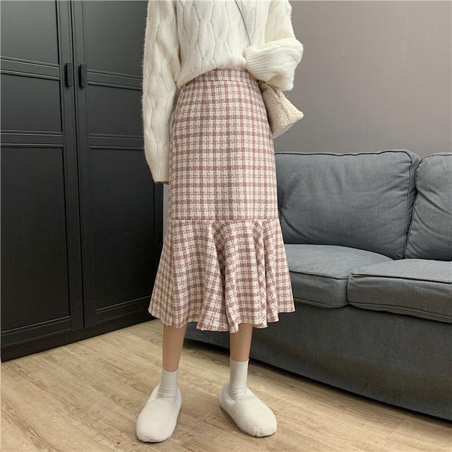 フリルラインミディスカート