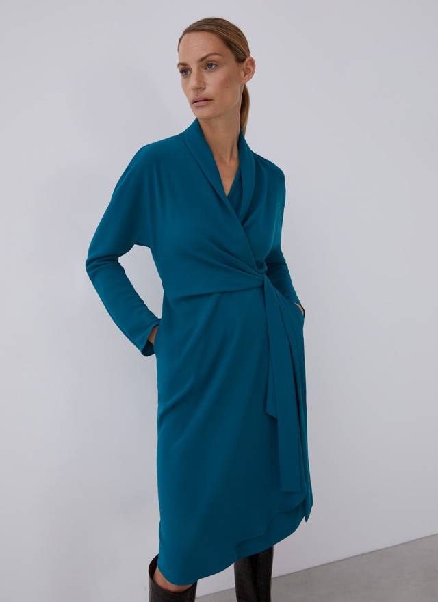 DRESS WITH CACHE-COEUR TOP