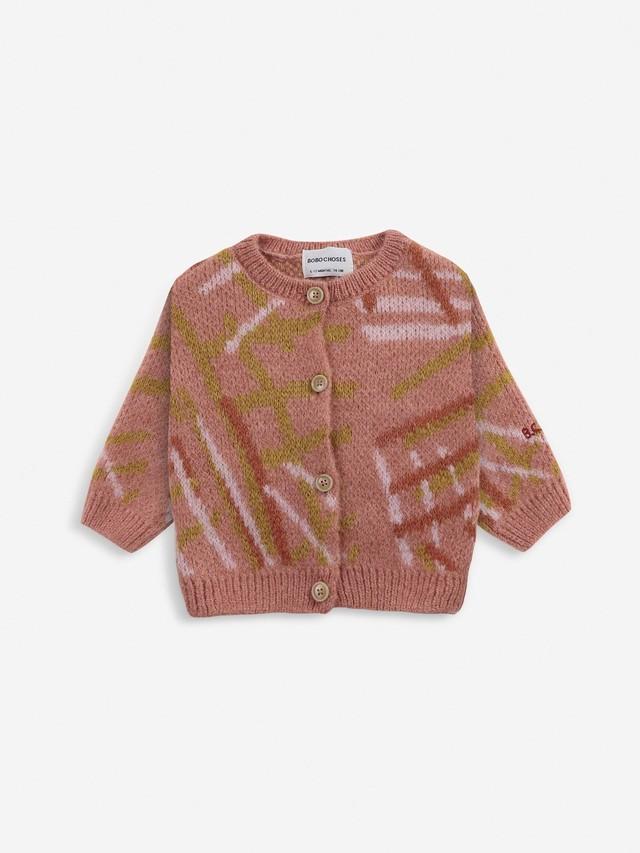 【予約7月下旬入荷】bobochoses(ボボショセス)Scratch Knitted cardigan カーディガン