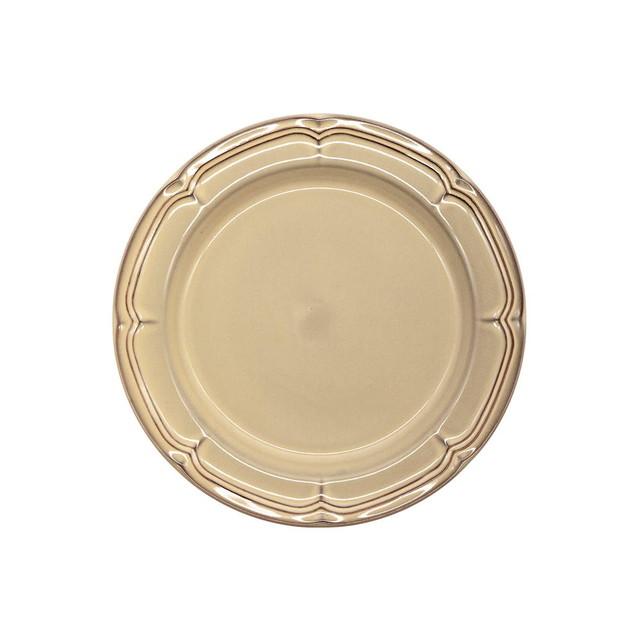 Koyo ラフィネ リムプレート 皿 約19.5cm シナモンベージュ 15922106