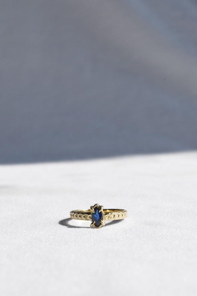 K18 Sapphire Oriental Design Ring 18金サファイアデザインリング