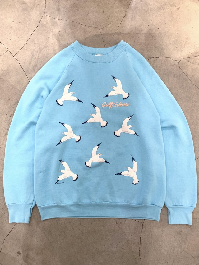 made in U.S.A. vintage seagull motif sweat