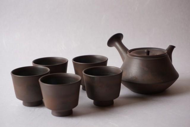火窯変富士型茶器 鯉江廣 作