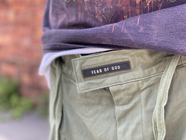 FEAR OF GOD SIXTH COLLECTION Belted Pleated Cotton-Twill Cargo Trousers KHAKI SMALL 28JE 6385
