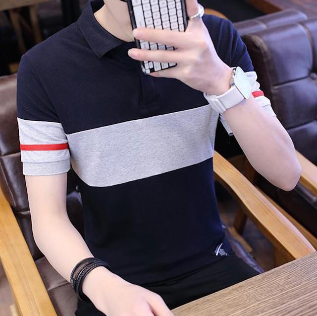 ポロシャツ 半袖 ティーシャツ Tシャツ メンズ インナー トップス カジュアル カtps-1903