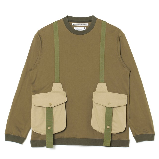 HUNTING POCKET TAPED SWEATSHIRT - KHAKI